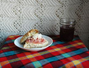 Savory Pancetta Scones with Honey & Gruyère